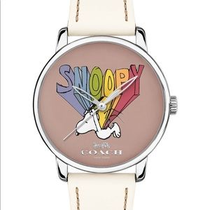 Coach Snoopy Limited Edition White Leather Watch